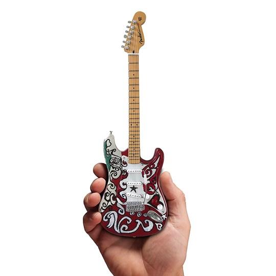 Réplica Guitarra Miniatura Jimi Hendrix Fender Stratocaster Saville Theatre Axe Heaven