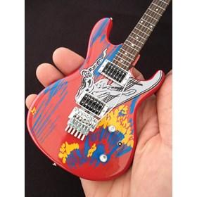 Réplica Guitarra Miniatura Joe Satriani Signature Silver Surfer Axe Heaven