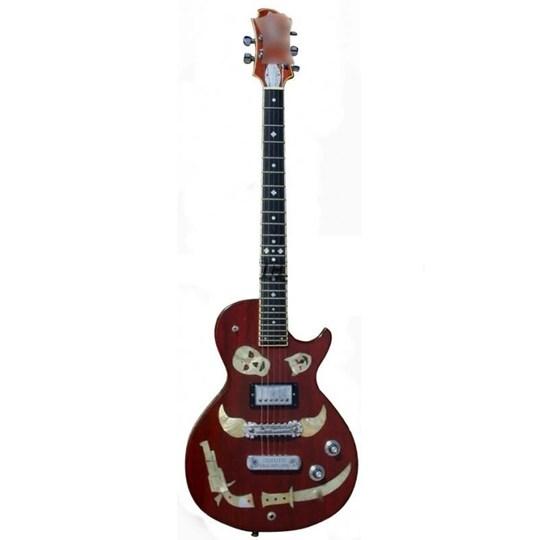 Réplica Guitarra Miniatura Keith Richards 1981 Zemaitis Macabre Rolling Stones Axe Heaven