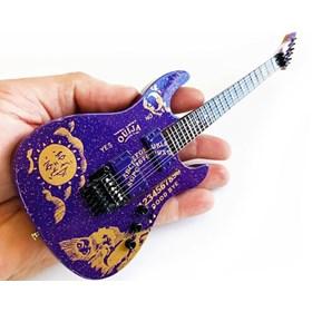 Réplica Guitarra Miniatura Kirk Hammett Ouija Purple Sparkle ESP Metallica Axe Heaven
