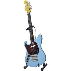 Réplica Guitarra Miniatura Kurt Cobain Fender Mustang Sonic Blue Nirvana Axe Heaven