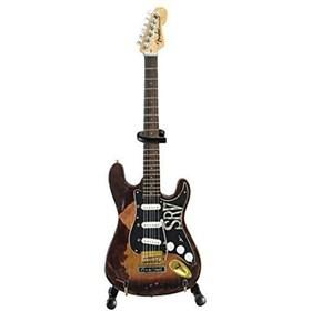 Réplica Guitarra Miniatura Stevie Ray Vaughan Fender Strat SRV Axe Heaven
