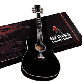 Réplica Violão Miniatura Classic Black Finish Axe Heaven