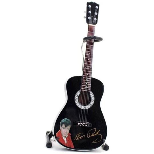 Réplica Violão Miniatura Elvis Presley Signature Black Axe Heaven